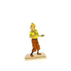 Collectible metal figure Tintin looking around 29204 (2012)