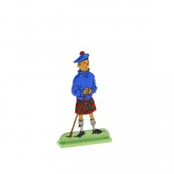 Figurine en métal de collection Tintin écossais en kilt 29203 (2010)