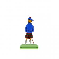 Collectible metal figure Tintin in Scottish dress 29203 (2010)