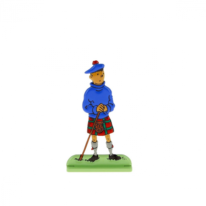 Collectible metal figure Tintin in Scottish dress 29203 (2010)