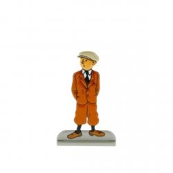 Figura metálica de colección Tintín esperando 29202 (2012)