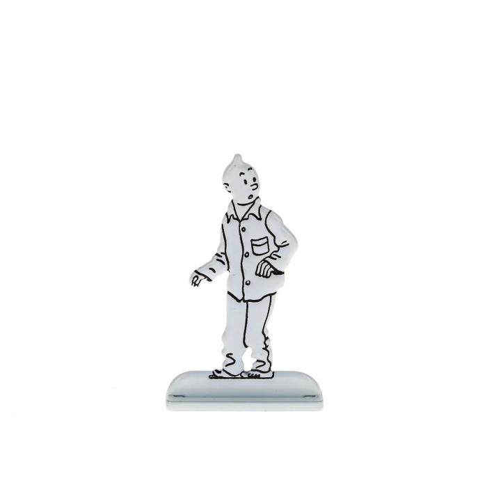 Collectible metal figure Tintin in pyjamas 29242 (2014)