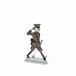 Collectible metal figure Tintin wearing army uniform 29240 (2014)