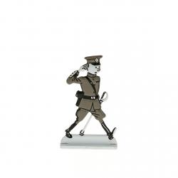 Figura metálica de colección Tintín en coronel del ejército 29240 (2014)