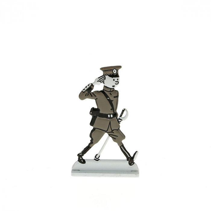 Collectible metal figure Tintin wearing army uniform 29240 (2014)