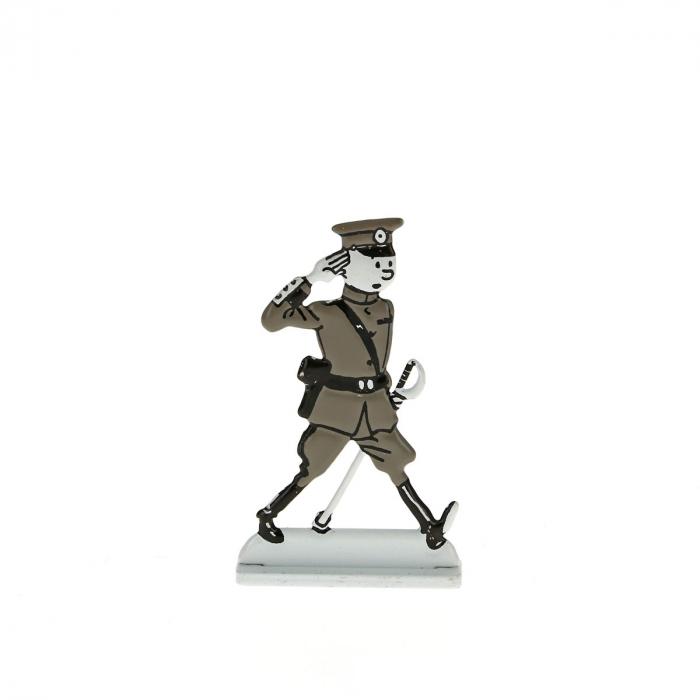 Figurine en métal de collection Tintin en colonel de l'armée 29240 (2014)