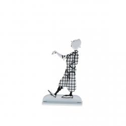 Figura metálica de colección Tintín alardeando 29234 (2013)