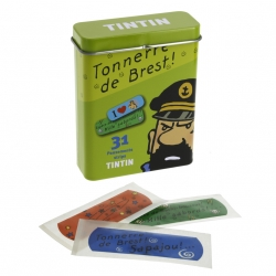 Boîte métallique verte avec pansements de Tintin (16016)