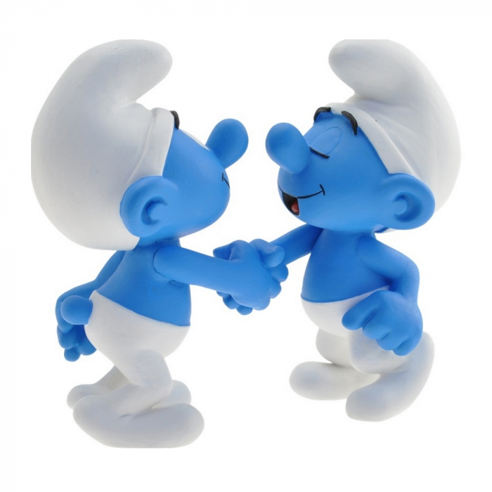 Collectible Figure Plastoy Handshake The Smurfs 00172 (2015)