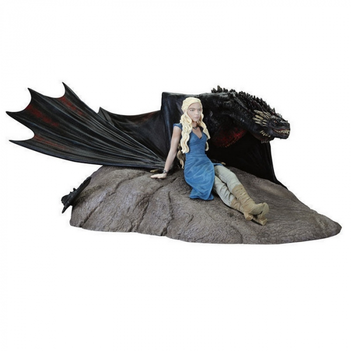 Statue en résime de Dark Horse Game of Thrones: Daenerys Targaryen et Drogon