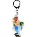 Porte-clés figurine Plastoy Astérix Obélix amoureux avec des fleurs 60429 (2016)