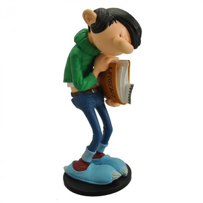 Figurine de collection Plastoy: Gaston Lagaffe avec son dossier urgent (00311)