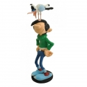 Collection Figurine Plastoy: Gaston Lagaffe happy with his seagull (00312)