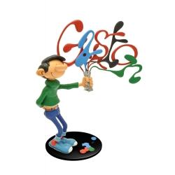 Figurine de collection Plastoy Gaston Lagaffe avec ses tubes de peinture (00313)