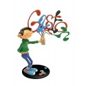 Collection Figurine Plastoy: Gaston Lagaffe happy with Paint Tubes (00313)
