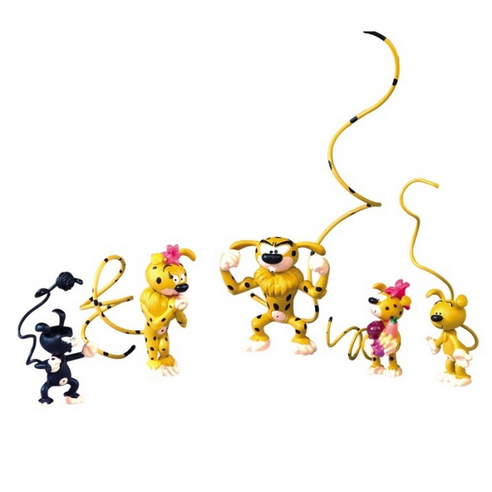 Collectible Series Box of 5 figures Plastoy Marsupilami (2015)