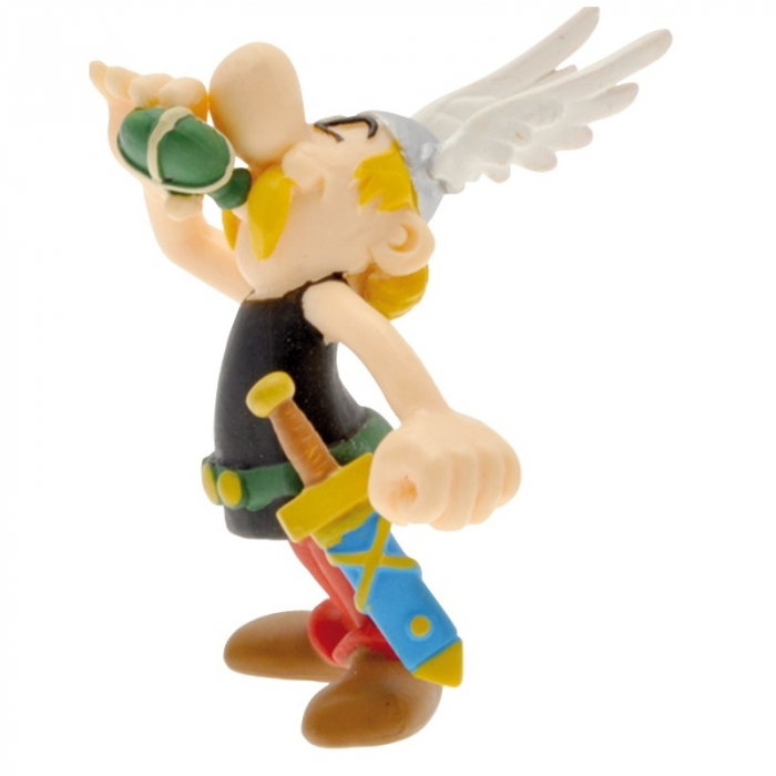 Collectible figure Plastoy Astérix drinking the magic potion 60558 (2016)