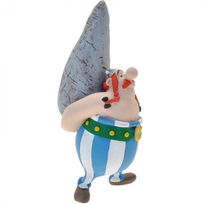 Figura de colección Plastoy Astérix Obélix llevando un menhir 60527 (2016)
