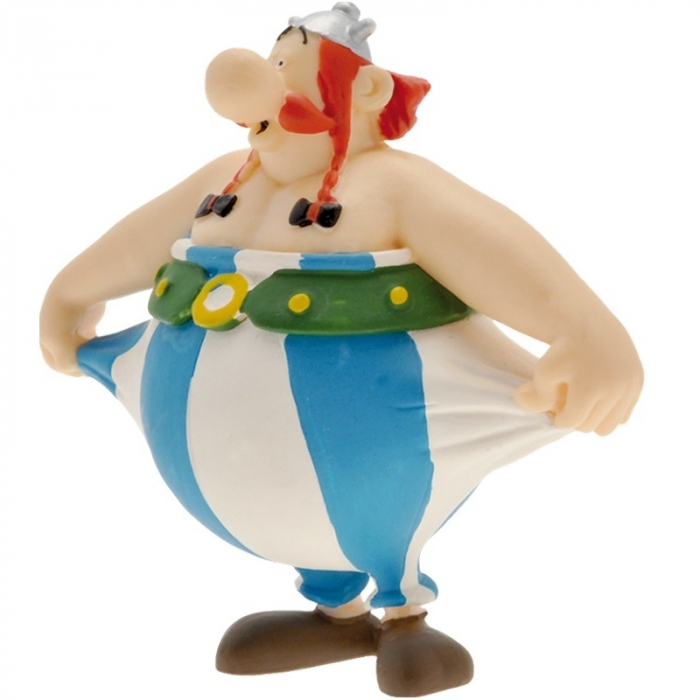 Collectible figure Plastoy Astérix Obélix holding trousers 60559 (2016)