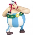 Collectible figure Plastoy Astérix Obélix in Love holding flowers 60546 (2016)