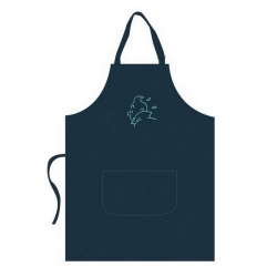 Cooking Apron Tintin 100% Cotton Turquoise Embroidery 69063 (109x84cm)