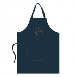 Tablier de cuisine Tintin 100% Coton Broderie Orange 69030 (109x84cm)