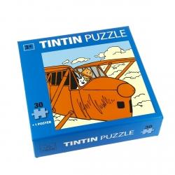 Puzzle Tintín y Milú en el avión con póster 30x30cm 81543 (2015)