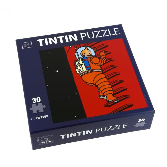 Puzzle Tintin L'échelle de la fusée avec poster 30x30cm 81541 (2015)