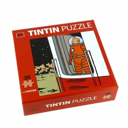 Puzzle Tintín La puerta del cohete con póster 30x30cm 81542 (2015)