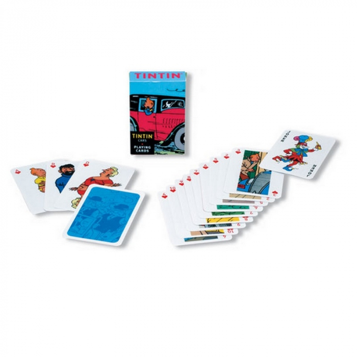 54 French Playing cards Tintin: Tintin and the cars  (51034)