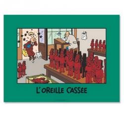Póster Cartel Moulinsart de Tintín escena de La oreja rota 20110 (80x60cm)