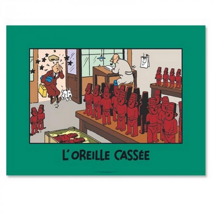Poster Moulinsart Tintin The Broken Ear 20110 (80x60cm)