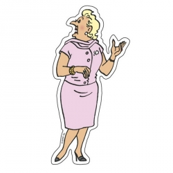 Decorative Magnet of The Adventures of Tintin: Bianca Castafiore (16003)