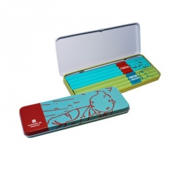 Pencil Turquoise Metal Box with 8 pencils The Adventures of Tintin (54777)