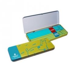 Boîte de crayons verte avec 8 crayons Les Aventures de Tintin (54778)