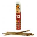 Boîte Tube rouge avec 12 crayons de couleur Les Aventures de Tintin (54781)