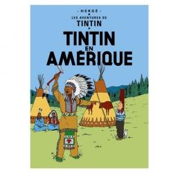 Póster Moulinsart albúm de Tintín: Tintín en América 22020 (70x50cm)