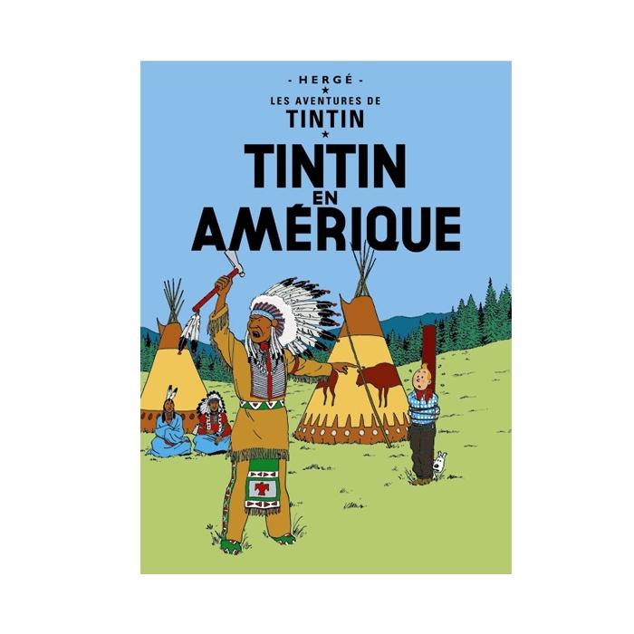 Poster Moulinsart Album de Tintin: Tintin en Amérique 22020 (70x50cm)