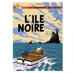 Póster Moulinsart albúm de Tintín: La isla negra 22060 (70x50cm)