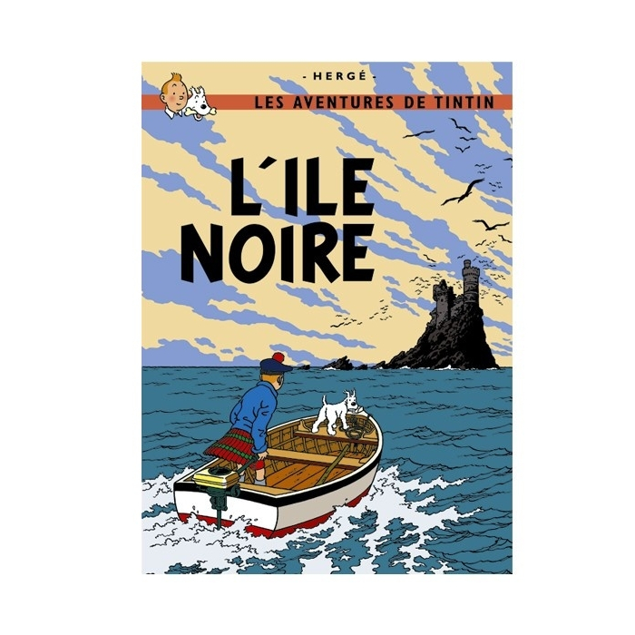 Poster Moulinsart Tintin Album: The Black Island 22060 (70x50cm)