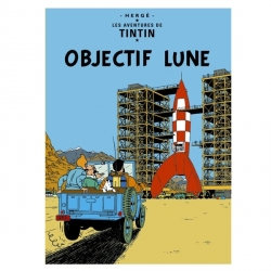 Poster Moulinsart Tintin Album: Destination Moon 22150 (70x50cm)