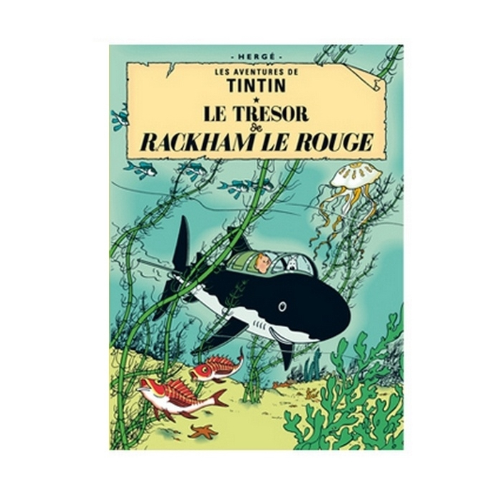 Poster Moulinsart Tintin Album: Red Rackham's Treasure 22110 (70x50cm)