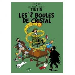 Carte postale album de Tintin: Les 7 boules de cristal 30081 (15x10cm)