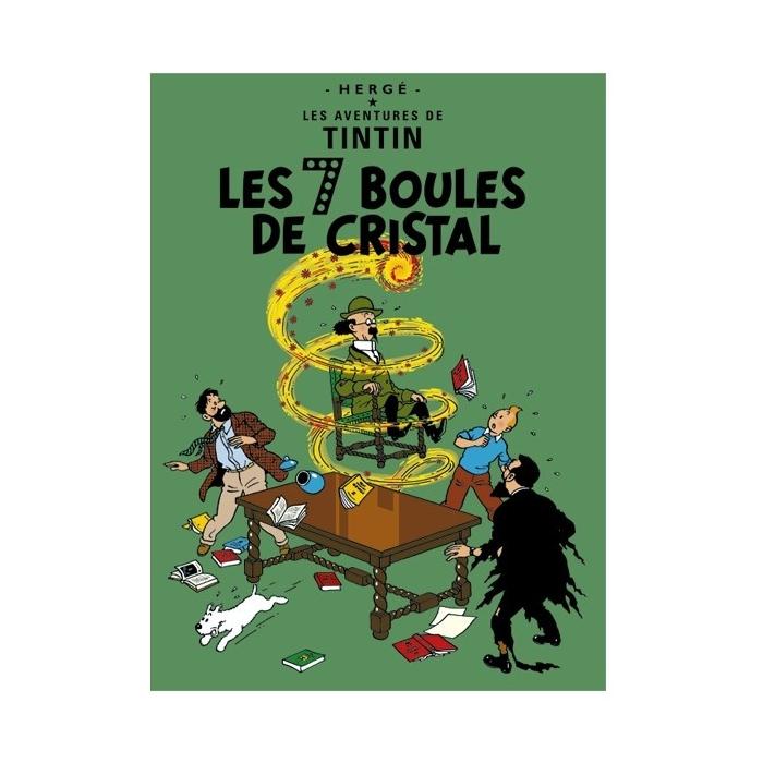 Postal del álbum de Tintín: Las siete bolas de cristal 30081 (15x10cm)