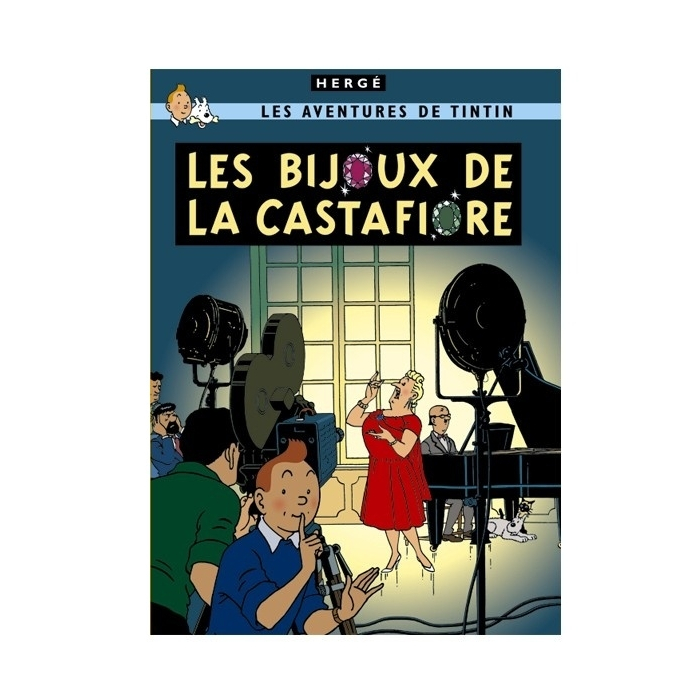 Postcard Tintin Album: The Castafiore Emerald 30089 (15x10cm)