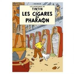 Postal del álbum de Tintín: Los cigarros del faraón 30072 (15x10cm)