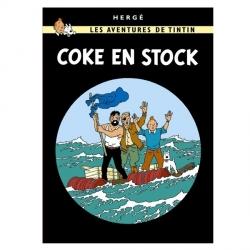 Postal del álbum de Tintín: Stock de coque 30087 (15x10cm)