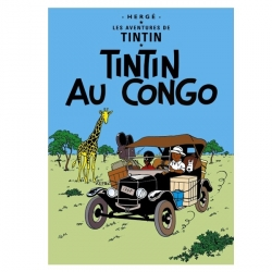 Carte postale album de Tintin: Tintin au Congo 30070 (15x10cm)