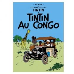 Postal del álbum de Tintín: Tintín en el Congo 30070 (15x10cm)
