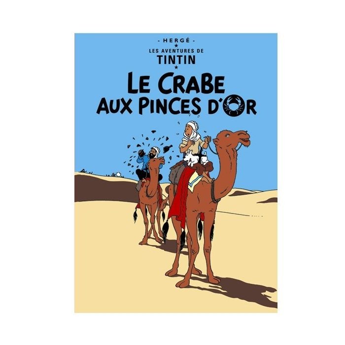 Postcard Tintin Album: The Crab with the Golden Claws 30077 (15x10cm)